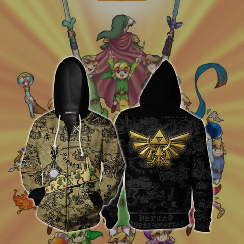 The Legend of Zelda Hoodies - The Legend of Zelda Zip Up Hoodie Jacket Cosplay