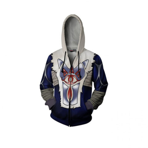 The Legend of Zelda Hoodies - Sheik 3D Zip Up Hoodie Jacket Cosplay