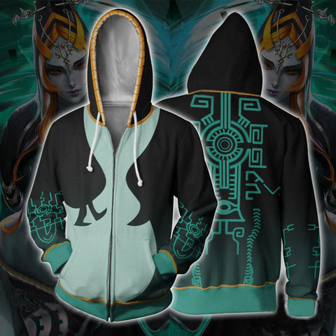The Legend of Zelda Hoodies - Midna Cosplay 3D Zip Up Hoodie Jacket