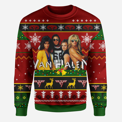 Van-halen-rock-band-3d-print-ugly-christmas-sweatshirt