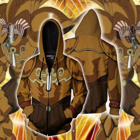 Yu-Gi-Oh Hoodies - Exodia The Forbidden One Zip Up Hoodie Jacket Cosplay Costume