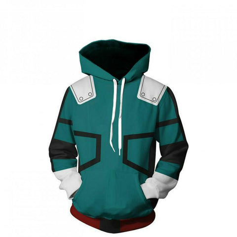 My Hero Academia 3D Print Green Pullover Hoodies