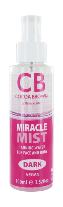 Miracle Mist Tanning Water for Face & Body- Dark