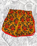 Trad Rose High Waist Shorts