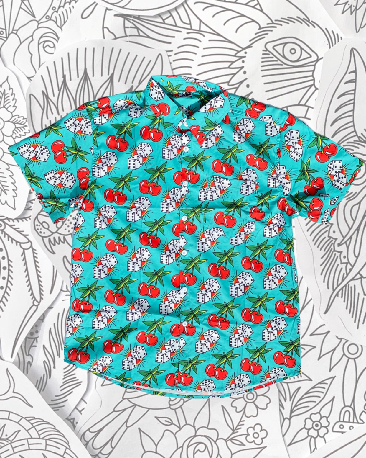 Cherry Dice Hawaiian Shirt