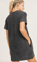 Cotton Ribbed Mineral Washed Tennis Dress