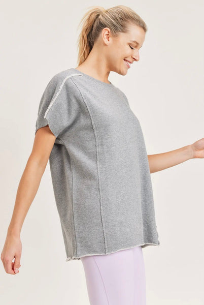 Cotton Terry Cut-Out Top