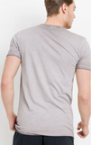 Men's Mauve Washed Crew Neck Tee