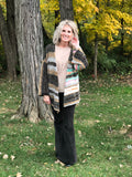 Forest Sunshine In Stripes Chenille Cardigan