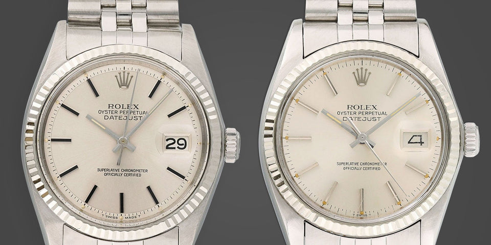 The Rolex Datejust Ref. 1601 vs. Ref. 16014