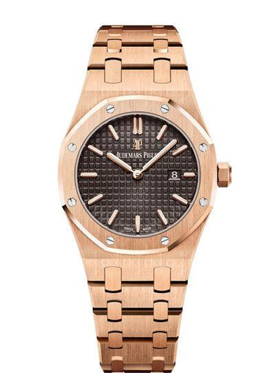 Audemars Piguet Royal Oak 67650OR.OO.1261OR.01 18k Pink Gold Ladies Watch Box & Papers