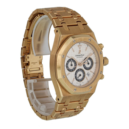 Audemars Piguet Royal Oak Chronograph 25960OR.OO.1185OR.02 Pink Gold Mens Watch