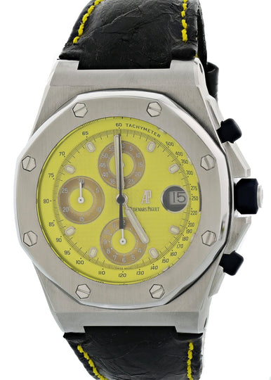 "Audemars Piguet Royal Oak Offshore 25770ST.O.D009CR.02 ""Yellow Themes"" Mens Watch"