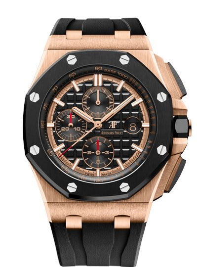 Audemars Piguet Royal Oak Offshore 26401RO.OO.A002CA.02 18k Pink Gold Mens Watch Box & Papers