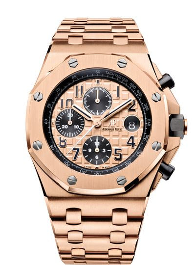 Audemars Piguet Royal Oak Offshore 26470OR.OO.1000OR.01 18k Pink Gold Mens Watch Box & Papers