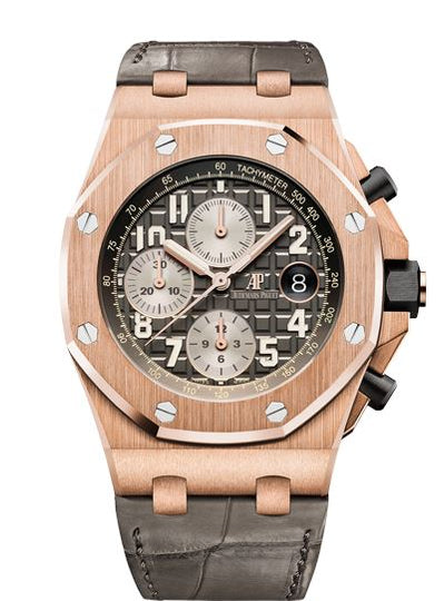 Audemars Piguet Royal Oak Offshore 26470OR.OO.A125CR.01 18K Pink Gold Mens Watch Box & Papers
