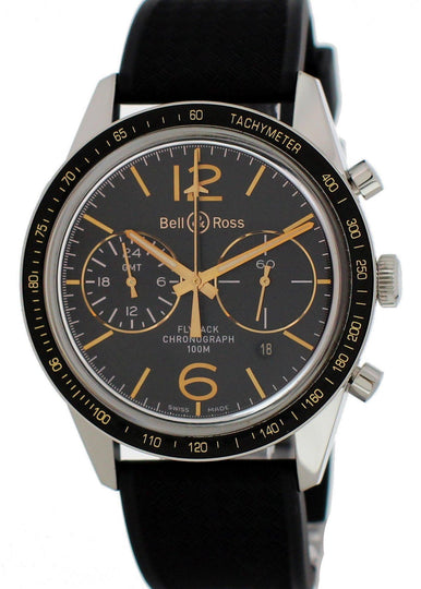 Bell And Ross Vintage Sport BR-126-55-SP GMT Flyback Men's Watch Box Papers
