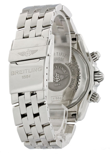 Breitling Chronomat A13356 White MOP Dial Mens Watch