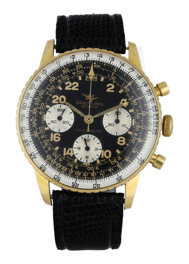 "Breitling Cosmonaute Rare Yellow Gold ""Joradnian Air Force "" Watch"