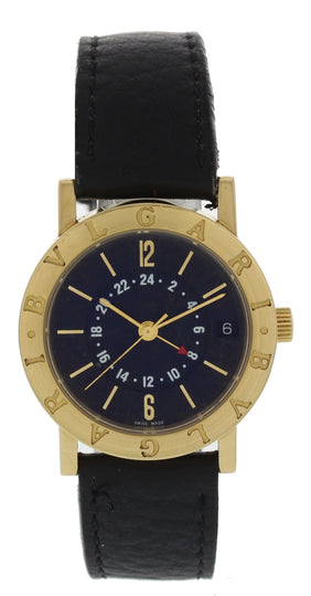 Bvlgari BB 33 GL GMT 18K Yellow Gold Automatic