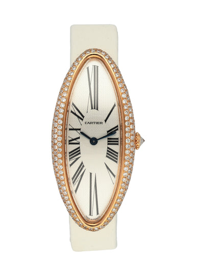 Cartier Baignoire Allongee 2515 Pink Gold Diamond Ladies Watch