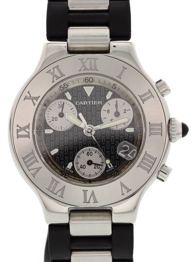 Cartier Chronoscaph 21 2424 Men's Watch