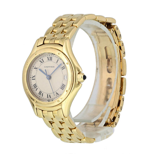 Cartier Cougar 001333 18k Yellow Gold Ladies Watch