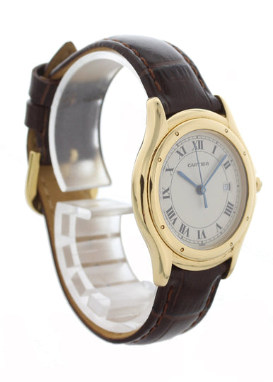 Cartier Cougar Panther 116000R 18k Yellow Gold Ladies Watch