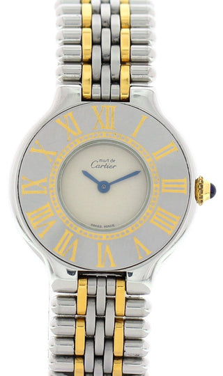 Cartier Must de 18K Yellow Gold & Steel