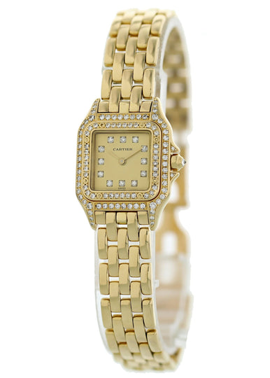 Cartier Panthere 1280 2 18K Yellow Gold Ladies Diamond Watch