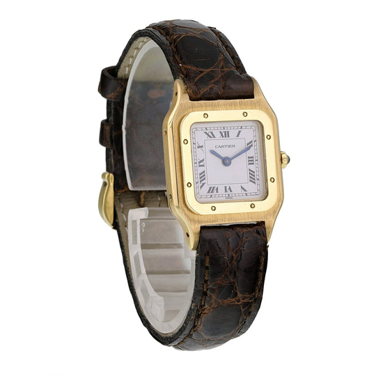 Cartier Paris Santos Dumont 18k Ladies Watch