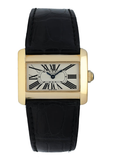 Cartier Tank Divan 18K Yellow Gold 2601 Ladies Watch