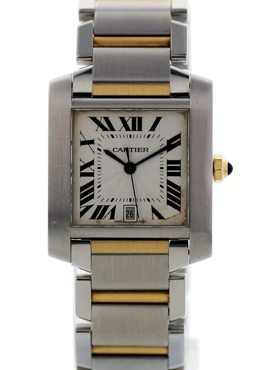 Cartier Tank Francaise 2302 Two Tone Watch