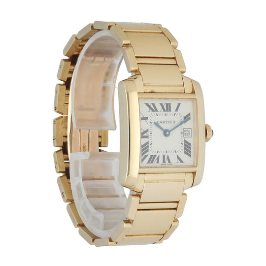 Cartier Tank Francaise 2466 Yellow Gold Ladies Watch
