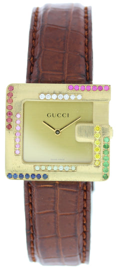 Gucci 3600M 18k Yellow Gold Ladies Watch