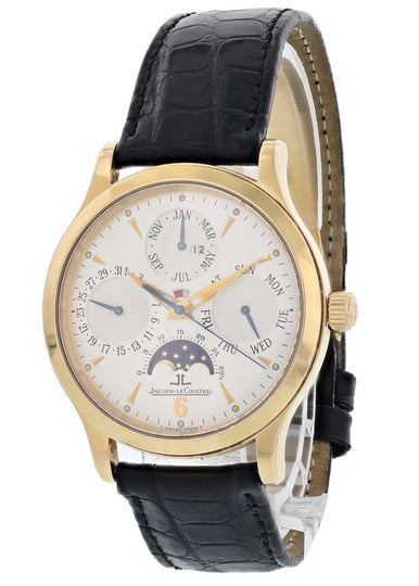 Jaeger LeCoultre Master Control 140.2.80 18K Perpetual Calendar Rose Gold Watch