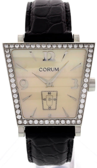 Ladies Corum Trapeze Stainless Steel with Diamonds 106.44.47