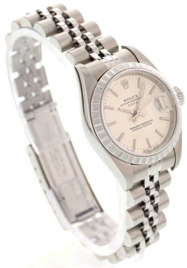 Ladies Rolex Date Stainless Steel Watch 79240 w/ Papers