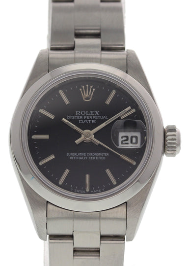 Ladies Rolex Oyster Perpetual Date 69160 w/ Papers