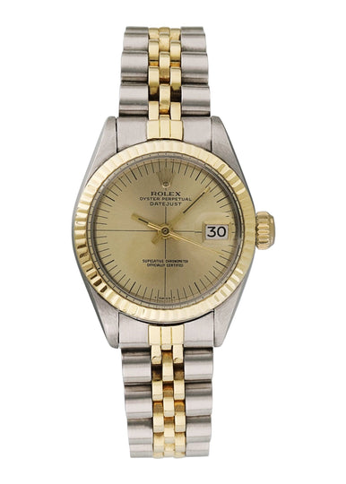 Ladies Rolex Oyster Perpetual Date 6917 18k Yellow Gold