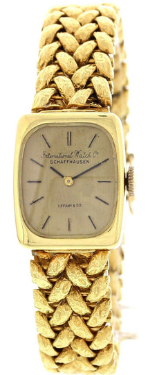 Ladies Vintage IWC Schaffhausen 18K Yellow Gold Watch By Tiffany & Co.
