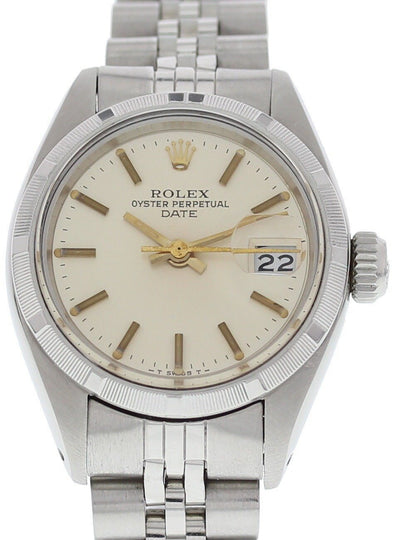 Ladies Vintage Rolex Date Stainless Steel 6919