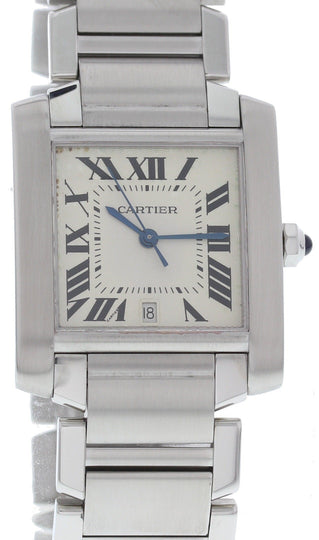 Large Cartier Tank Francaise Stainless Steel Watch 2302