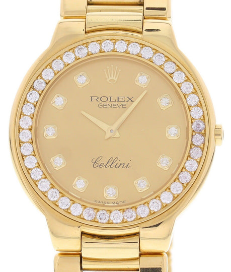 Men's Rolex Cellini 18K YG & Diamonds 6663