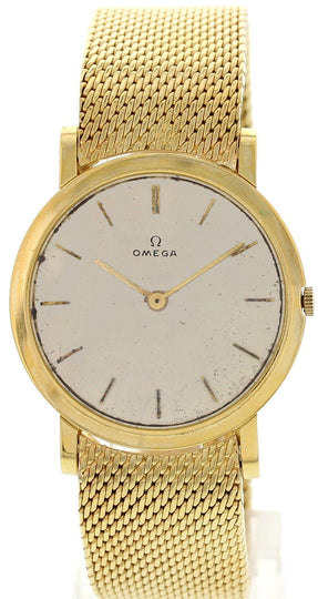 Men's Vintage Omega 18K Yellow Gold Watch