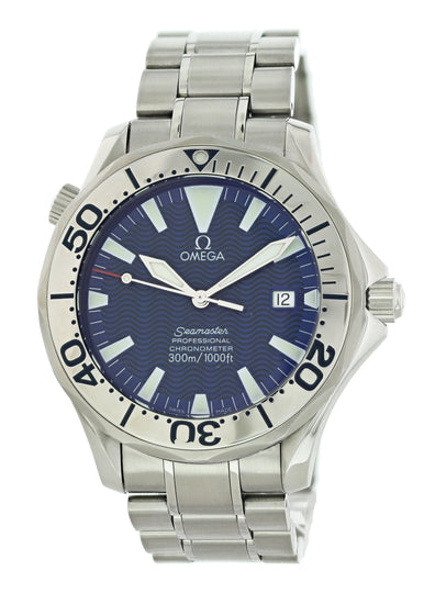 Omega Seamaster 2255.80.00 Electric Blue Mens Watch