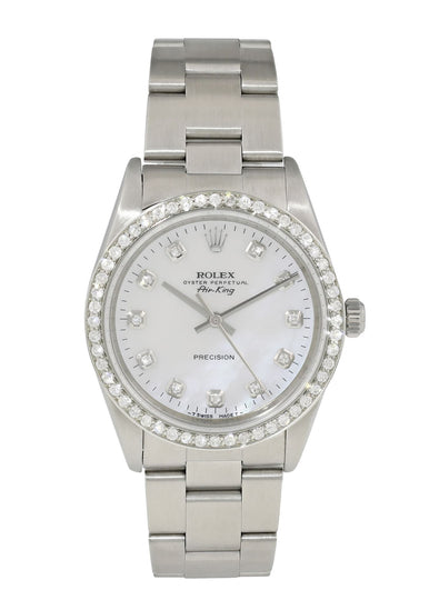 Rolex Air King Precision 14000 MOP Diamond mens Watch