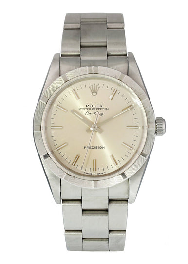 Rolex Air King Precision 14010 34mm steel diamond dial and bezel serial N564683 circa 1991