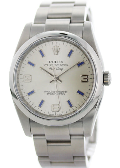 Rolex Air King Precision Steel 114200 34MM case with Rolex Service Papers Serial_G348347