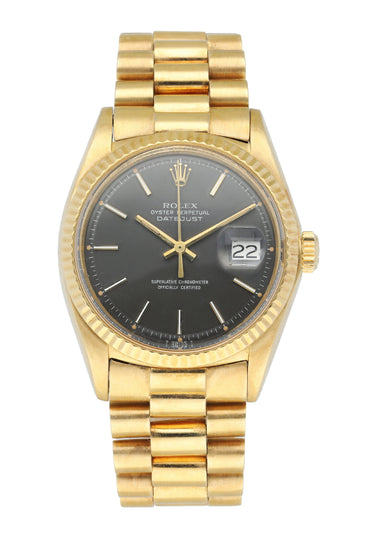 Rolex Datejust 1601 Yellow Gold Men's Watch